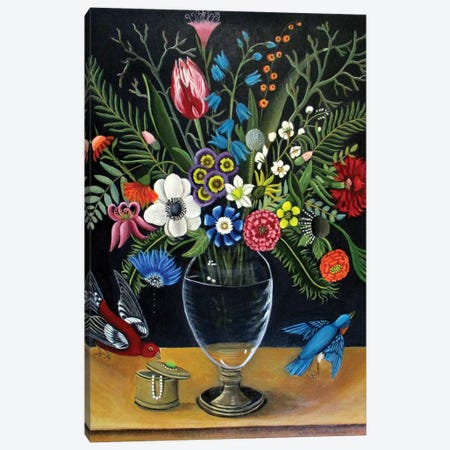 Best Vase Canvas Print #CNO4} by Catherine A Nolin Art Print