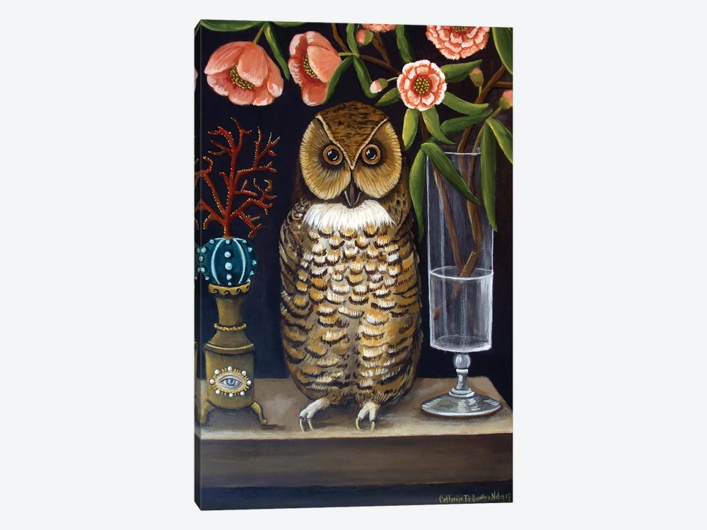 Curious And Wise by Catherine A. Nolin 1-piece Canvas Art Print