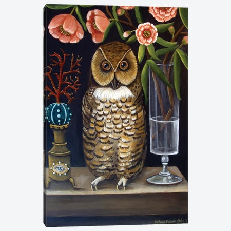Curious And Wise 3-Piece Canvas #CNO8} by Catherine A Nolin Canvas Art