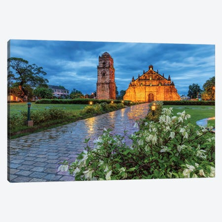 Unique Temple (Paoay, Philippines) Canvas Print #CNS13} by Chano Sánchez Canvas Wall Art