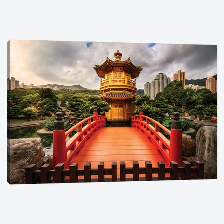 Oasis Of Serenity (Hong Kong) Canvas Print #CNS15} by Chano Sánchez Canvas Art Print
