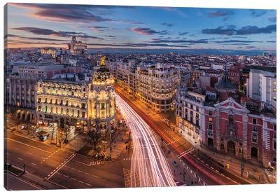 Capital Of The Night (Madrid, Spain) Canvas Art Print