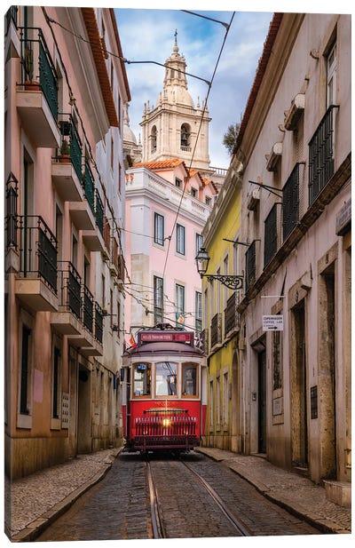Alfama Streets (Lisbon, Portugal) Canvas Art Print