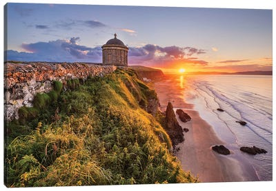 A Temple With Views (Mussenden, Northern Ireland) Canvas Art Print
