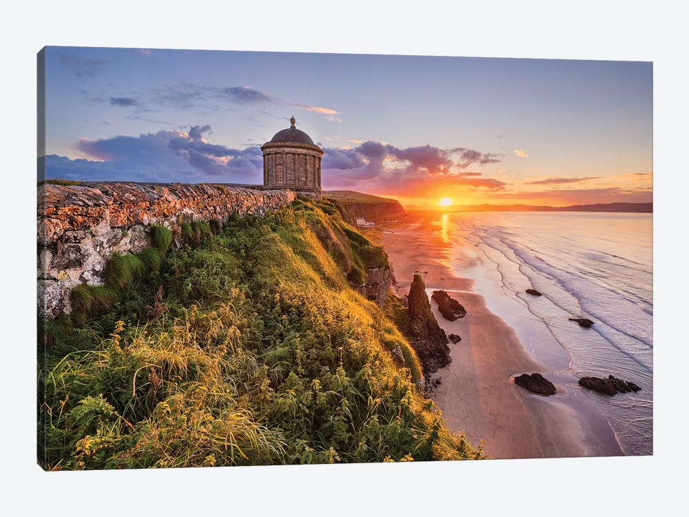A Temple With Views (Mussenden, Northern Ireland) by Chano Sánchez 1-piece Canvas Art Print