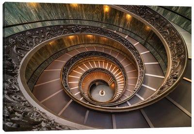 Double Spiral (Rome, Vatican Museums) Canvas Art Print