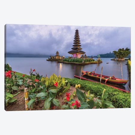 Floating On The Lake (Bali, Indonesia) Canvas Print #CNS39} by Chano Sánchez Canvas Wall Art