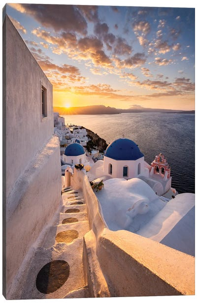 Perfect Sunrise (Santorini, Greece) Canvas Art Print
