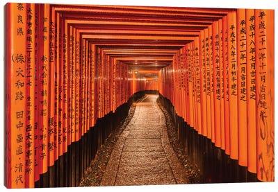 Gates To Prosperity (Kyoto, Japan) Canvas Art Print