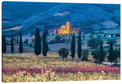 Autumnal Abbey (Tuscany, Italy) Canvas Art Print