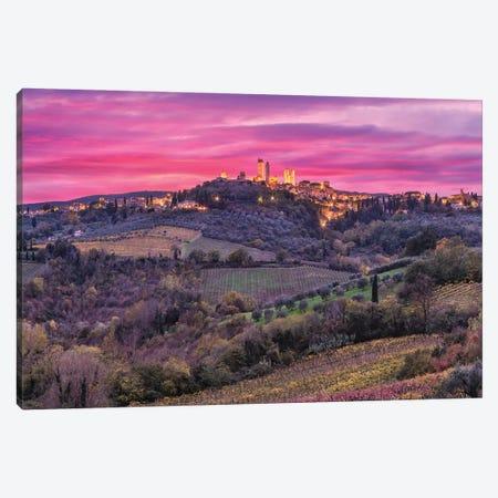 Color Explosion (San Gimignano, Italy) Canvas Print #CNS45} by Chano Sánchez Canvas Artwork