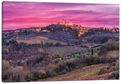 Color Explosion (San Gimignano, Italy) Canvas Art Print