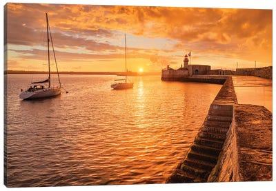 Golden Pier (Dún Laoghaire, Ireland) Canvas Art Print