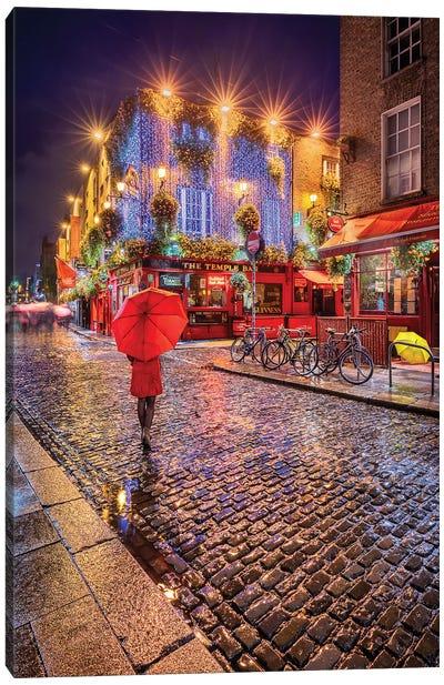 It Rains On Wet (Dublin, Ireland) Canvas Art Print