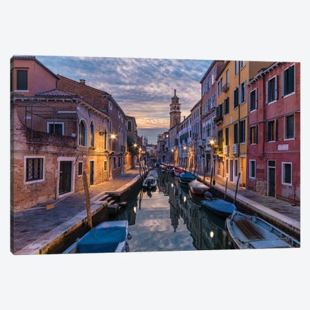 Lovely Canals (Venice, Italy) Canvas Print #CNS58} by Chano Sánchez Canvas Wall Art