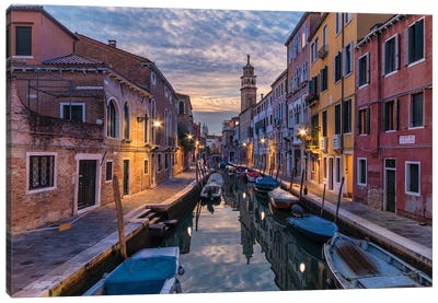Lovely Canals (Venice, Italy) Canvas Art Print