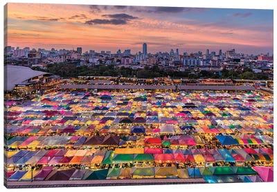 Rainbow Commerce (Bangkok, Thailand) Canvas Art Print