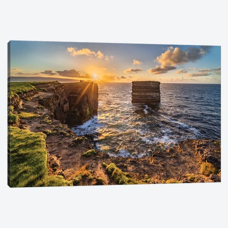Spectacle Of Nature (Downpatrick Head, Ireland) Canvas Print #CNS79} by Chano Sánchez Canvas Art