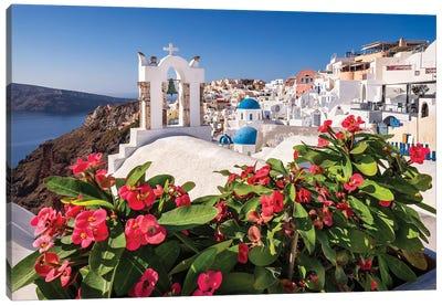 Blue Sky (Santorini, Greece) Canvas Art Print