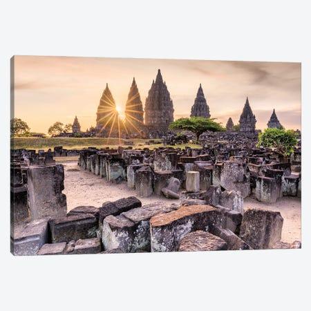Stone By Stone (Prambanan Temple, Indonesia) Canvas Print #CNS80} by Chano Sánchez Art Print
