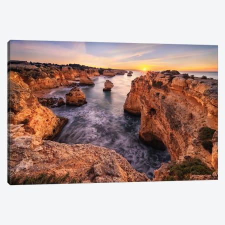 The Sea Power (Algarve, Portugal) Canvas Print #CNS91} by Chano Sánchez Canvas Artwork