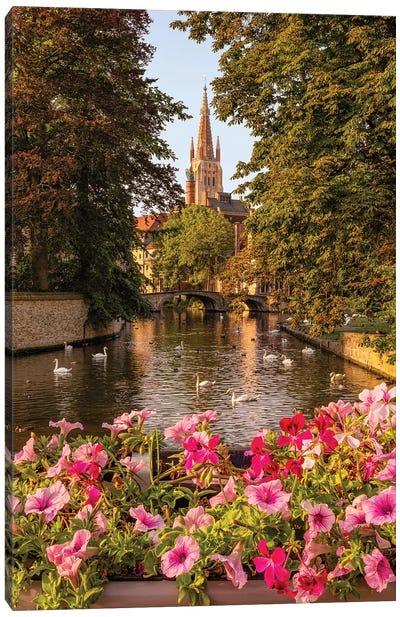 Golden Romanticism (Bruges, Belgium) Canvas Art Print
