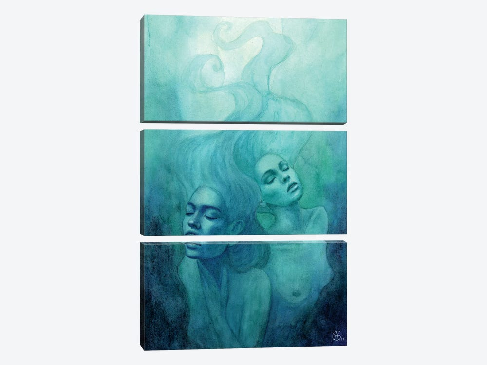 Oceanic Feeling by Anne-Sophie Cournoyer 3-piece Canvas Artwork