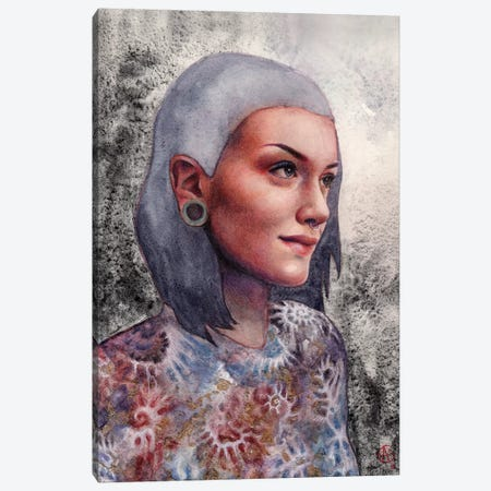 Portrait Of A Girl Canvas Print #CNY13} by Anne-Sophie Cournoyer Canvas Art
