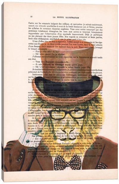 Vintage Paper Series: Gentleman Lion Canvas Print #COC102