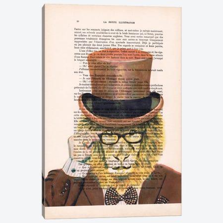 Gentleman Lion Canvas Print #COC102} by Coco de Paris Canvas Art Print