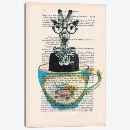 Giraffe In A Cup Canvas Print #COC103} by Coco de Paris Canvas Print