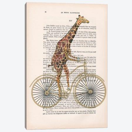 Giraffe On Bicycle Canvas Print #COC104} by Coco de Paris Canvas Art