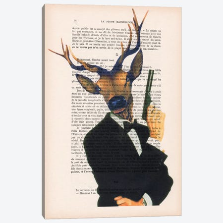 James Bond Deer Canvas Print #COC108} by Coco de paris Canvas Print