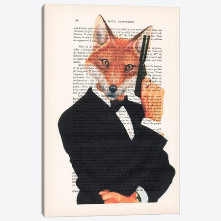 James Bond Fox I Canvas Print #COC109} by Coco de Paris Canvas Print