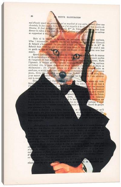 Vintage Paper Series: James Bond Fox Canvas Print #COC109
