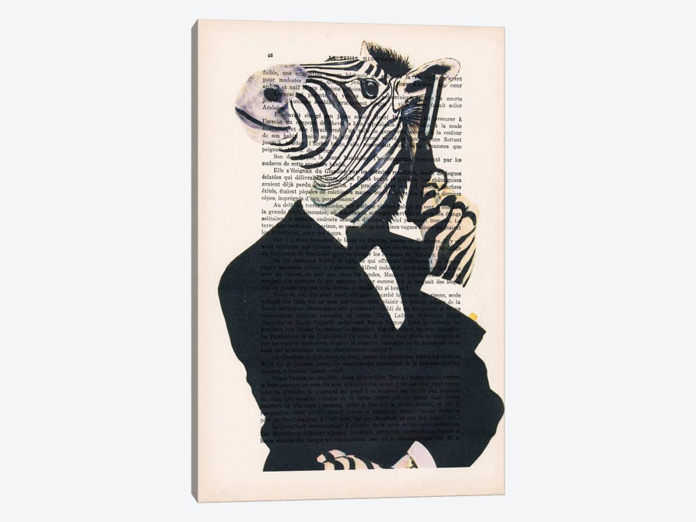 James Bond Zebra by Coco de Paris 1-piece Canvas Print