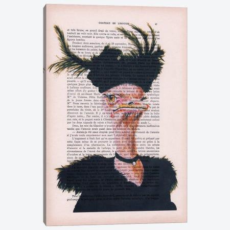 Jet-set Ostrich Canvas Print #COC111} by Coco de Paris Canvas Art
