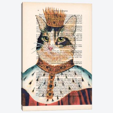 King Cat Canvas Print #COC112} by Coco de Paris Canvas Artwork