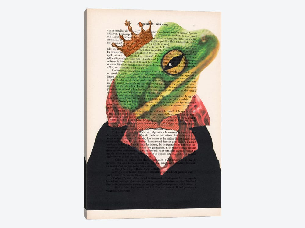 King Frog 1-piece Canvas Wall Art