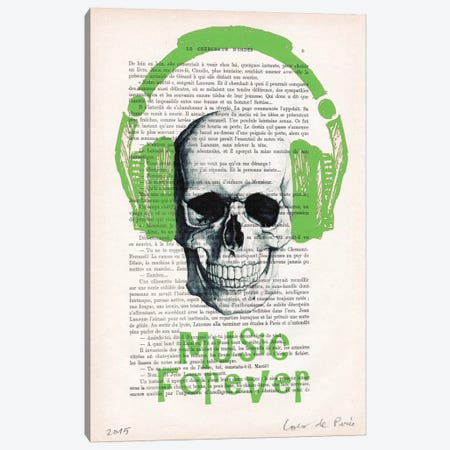 Music Forever I Canvas Print #COC117} by Coco de Paris Canvas Print