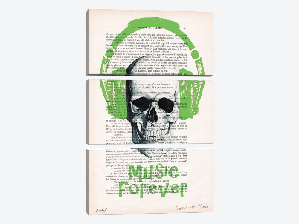 Music Forever I by Coco de Paris 3-piece Canvas Wall Art