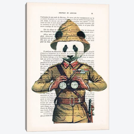 Panda Explorer Canvas Print #COC122} by Coco de Paris Art Print