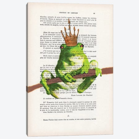 Prince Frog Canvas Print #COC126} by Coco de Paris Canvas Wall Art
