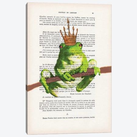 Prince Frog Canvas Print #COC126} by Coco de Paris Canvas Wall Art