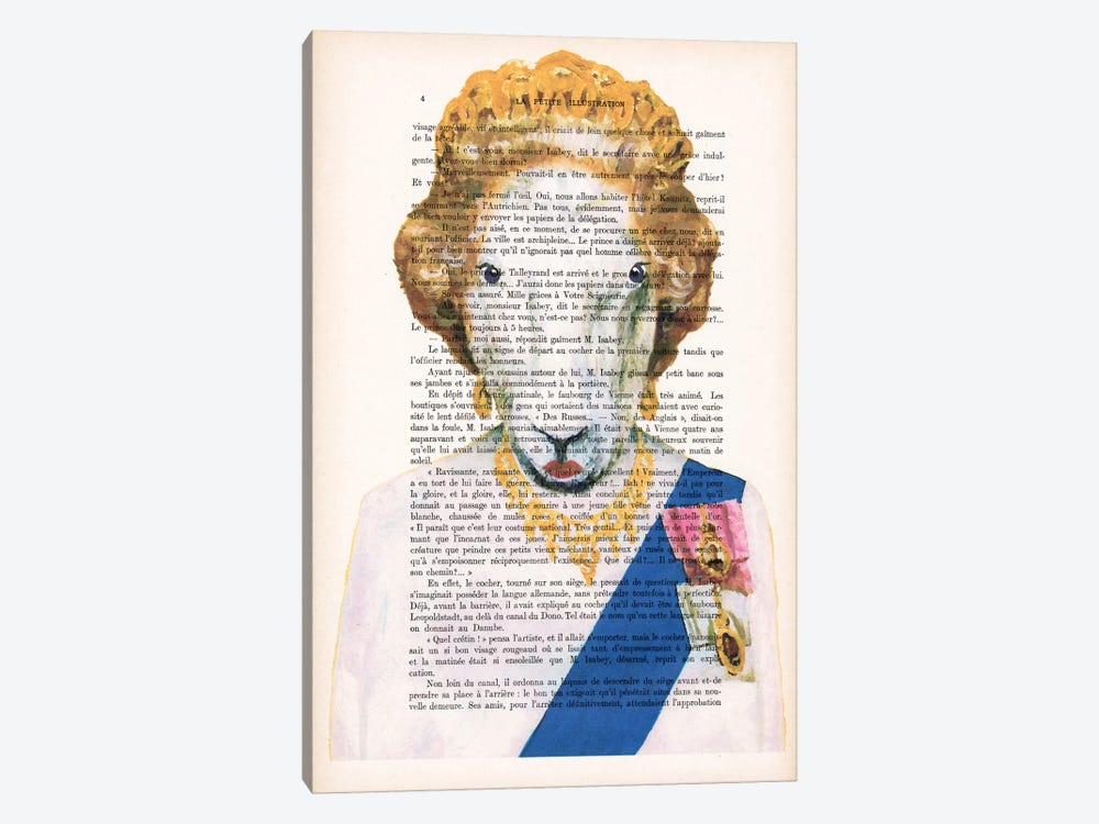 Queen Elisabeth Goat by Coco de Paris 1-piece Canvas Artwork