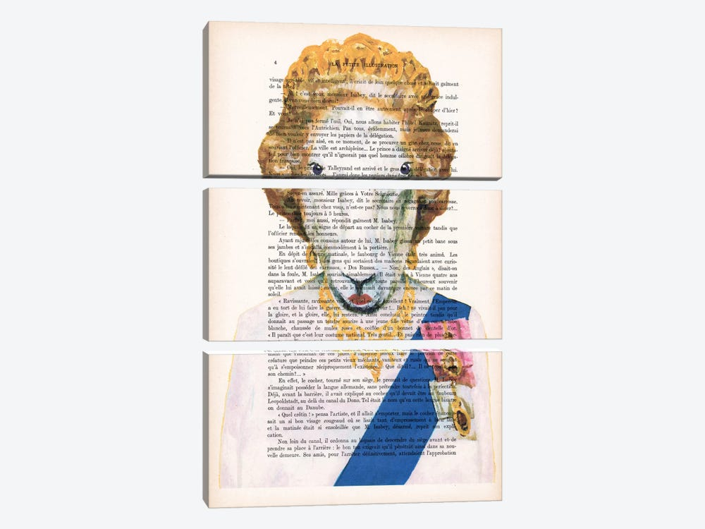 Queen Elisabeth Goat by Coco de Paris 3-piece Canvas Wall Art