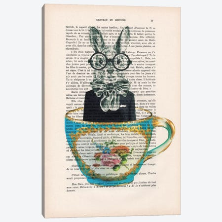 Rabbit In A Cup Canvas Print #COC129} by Coco de paris Canvas Print