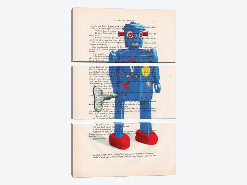 Robot II by Coco de Paris 3-piece Canvas Artwork