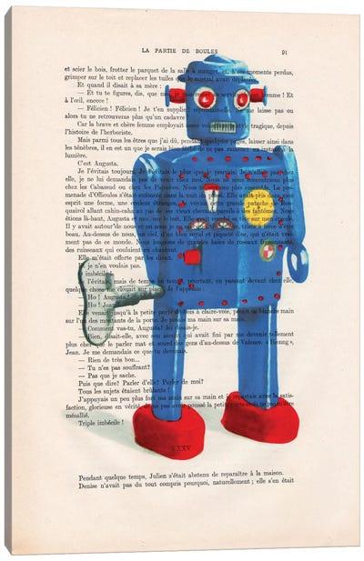 Vintage Paper Series: Robot II Canvas Print #COC133