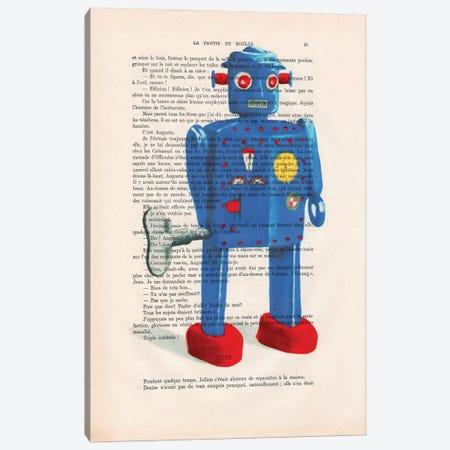 Robot II Canvas Print #COC133} by Coco de Paris Canvas Wall Art